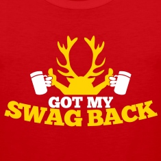 GOT MY SWAG BACK with beers and a stag T-Shirts