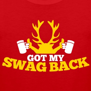 GOT MY SWAG BACK with beers and a stag T-Shirts - Men's Premium Tank