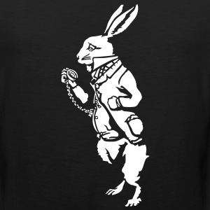 White rabbit wonderland (negative) T-Shirts - Men's Premium Tank