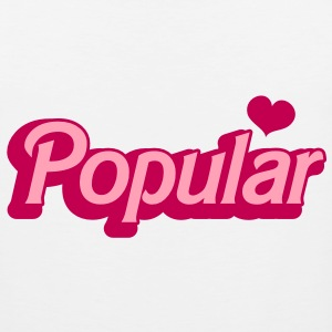 POPULAR! with cute heart funky sexy font T-Shirts - Men's Premium Tank