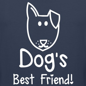 Dog's BEST FRIEND! perfect for pet owner T-Shirts - Men's Premium Tank