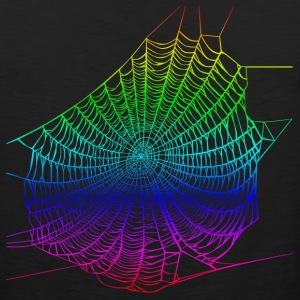 Rainbow web T-Shirts - Men's Premium Tank