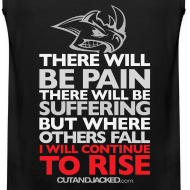 Design ~ There will be pain | CutAndJacked | Mens tank