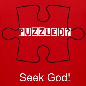 Puzzled seek God shirt - Men's Premium Tank