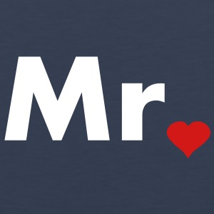 Mr with heart dot - part of Mr and Mrs set Tank Tops - Men's Premium Tank