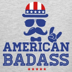 Like a USA love America American flag Badass boss Tank Tops