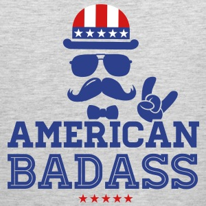 Like a USA love America American flag Badass boss Tank Tops - Men's Premium Tank
