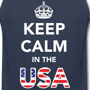 Keep Calm in the USA T-Shirts - Men's Premium Tank