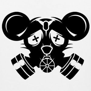 A gas mask with big mouse ears T-Shirts - Men's Premium Tank