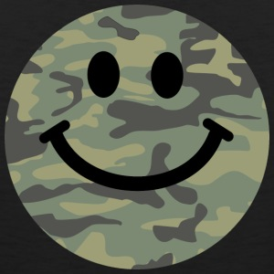 Army green camo Smiley face Tank Tops - Men's Premium Tank