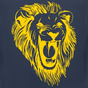 Lion - male face roaring Tank Tops - Men's Premium Tank