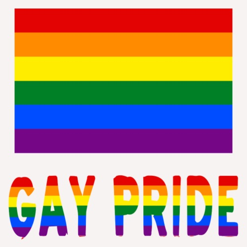 Gay Pride Flag and Words