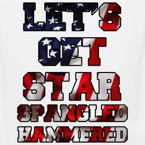 Let's Get Star Spangled Hammered Flag Design Tank Tops - Men's Premium Tank