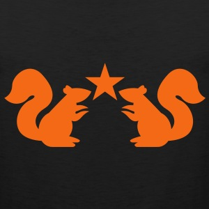 squirrels emblem cute with star rampant Tank Tops - Men's Premium Tank