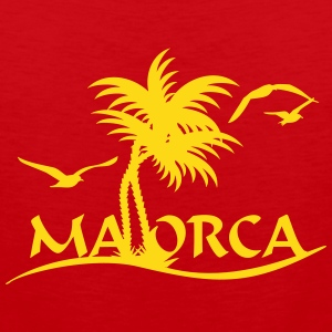 Mallorca palm trees (1c) Tank Tops - Men's Premium Tank