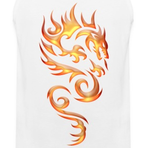Tribal Fire Dragon Tank Tops - Men's Premium Tank