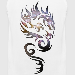 Cosmic Tribal Dragon Tank Tops - Men's Premium Tank