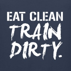 eat_clean_train_dirty Tank Tops