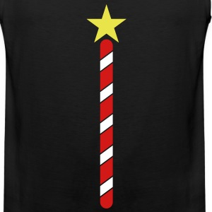north pole poles barber with a star Tank Tops - Men's Premium Tank