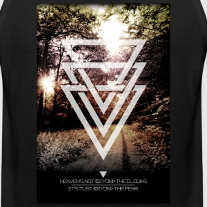 mystic forest triangles Tank Tops - Men's Premium Tank