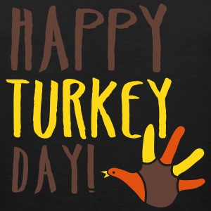 THANKSGIVING happy turkey day Tank Tops - Men's Premium Tank