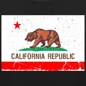 california Vintage Flag Tank Tops - Men's Premium Tank