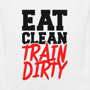 Eat Clean, TRAIN DIRTY! Tank Tops - Men's Premium Tank