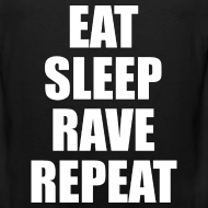 Design ~ Eat Sleep Rave Repeat Sleeveless Tank Top