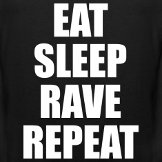 Eat Sleep Rave Repeat EDM Design Tank Tops