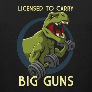 License to Carry Big Guns Tank Tops - Men's Premium Tank