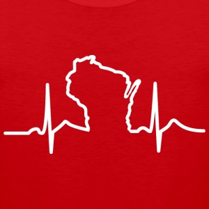 Wisconsin Heart Beat Apparel Clothing T-Shirts Tank Tops - Men's Premium Tank