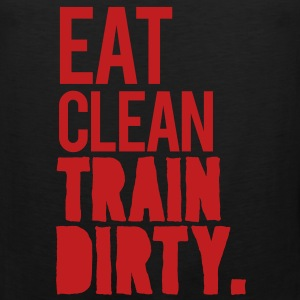 Eat Clean Gym Motivation Tank Tops - Men's Premium Tank