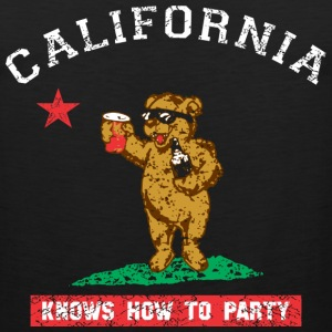 Young California Knows To Party Tank Tops - Men's Premium Tank