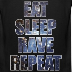 Eat Sleep Rave Repeat EDM Stars Design Tank Tops