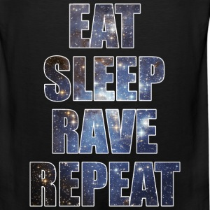 Eat Sleep Rave Repeat EDM Stars Design Tank Tops - Men's Premium Tank