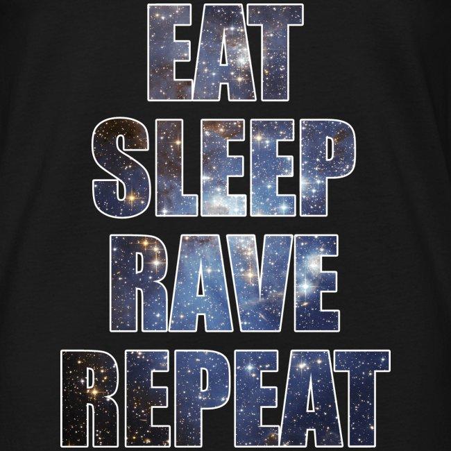 Eat Sleep Rave Repeat Stars Sleeveless Tank Top