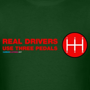 Real Drivers Use Three Pedals - Men's T-Shirt