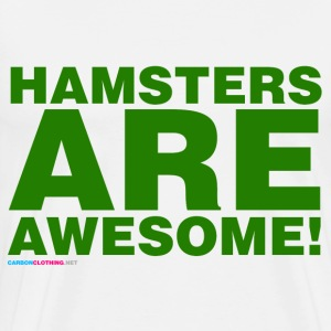 Hamsters Are Awesome - Men's Premium T-Shirt