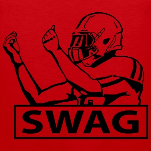 SWAG FOOTBALL PLAYER Tank Tops - Men's Premium Tank