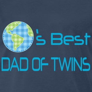 World's Best Dad Of Twins T-Shirts - Men's Premium T-Shirt