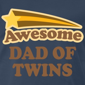 Awesome Dad Of Twins T-Shirts - Men's Premium T-Shirt