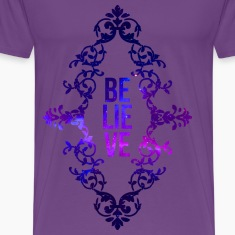 BELIEVE Galaxy (Purple) T-Shirts