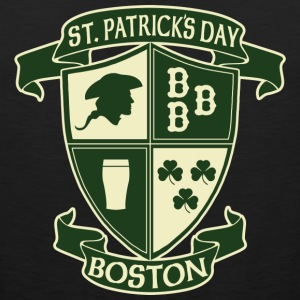 St. Paticks Day Boston Irish Crest  Tank Tops - Men's Premium Tank