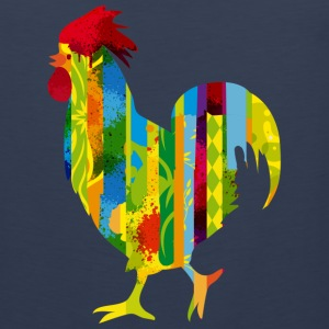 A colorful rooster Tank Tops - Men's Premium Tank
