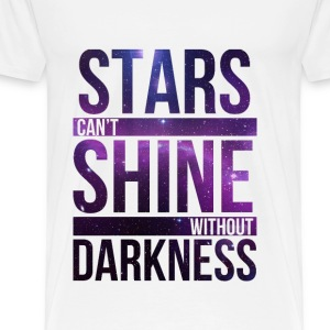 (STARS CAN'T SHINE WITHOUT DARKNESS) Purple Galaxy - Men's Premium T-Shirt