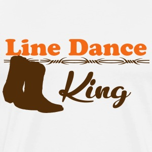 Line Dance King T-Shirts - Men's Premium T-Shirt