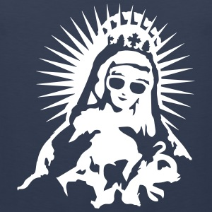 Virgin Mary with a pair of sunglasses Tank Tops - Men's Premium Tank