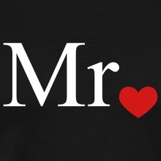 Mr with heart dot (Mr and Mrs set) T-Shirts
