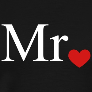 Mr with heart dot (Mr and Mrs set) T-Shirts - Men's Premium T-Shirt