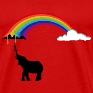 Elephant and Rainbow  T-Shirts - Men's Premium T-Shirt